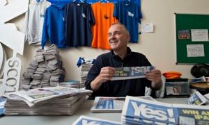 Jimmy Black, an SNP councillor who runs Yes Dundee